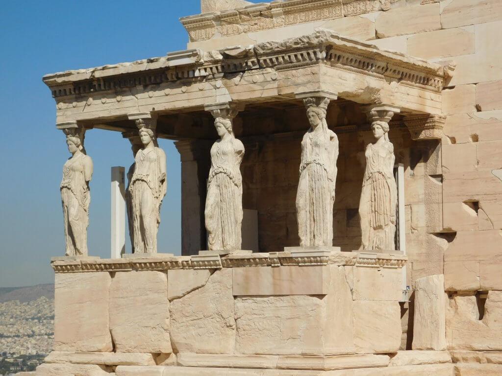 Akropolj. Atina. Grčki jezik.